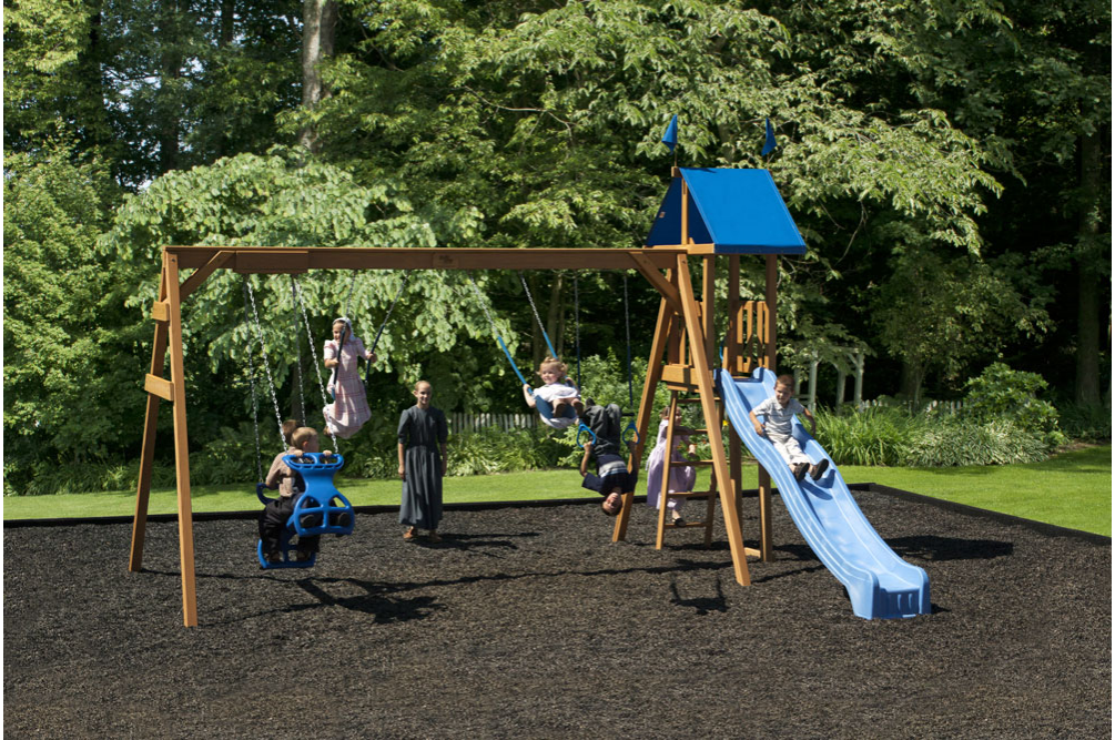 1 Swing Set Playmor Swing Sets Swiss Country Lawn