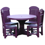 4' Round Table Set with regular chairs
