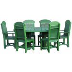 4x6 Oval Table set w/regular Chairs & Captain Chairs