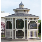 12' x 12' Heavy Duty Colonial Vinyl Gazebo