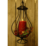 3D Black Wrought Iron Lantern