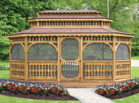 12x20 Brookside Wood Gazebo