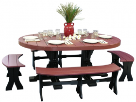 Poly 4'x6' Oval Table Set #3