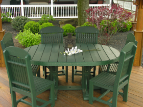 Poly 4'x6' Oval Table Set #2