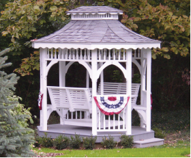 "7' x 9' 4"" Colonial Wood Teahouse"