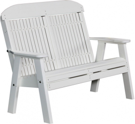 4' Poly Classic Highback Bench