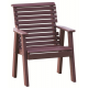 2' Poly Rollback Plain Bench shown in Cherrywood