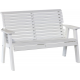 4' Poly Rollback Plain Bench