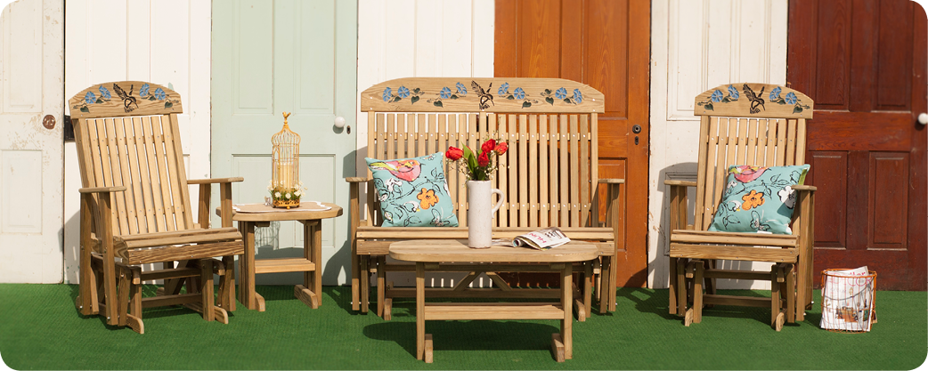 Outdoor Wood Furniture Luxcraft Swiss Country Lawn